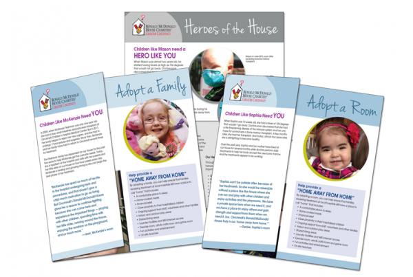 Ronald McDonald House Cincinnati: Development Brochures