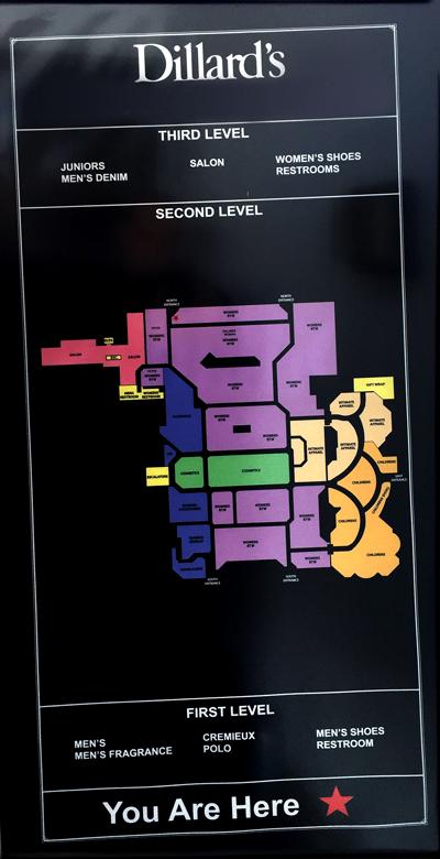 Dillards Store Map