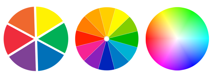 Examples of color wheels