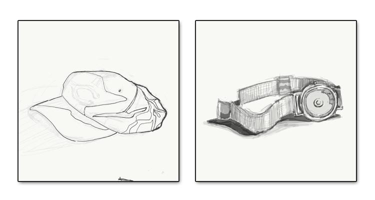 sketching, iPad
