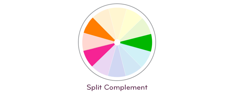 Split complement color palette