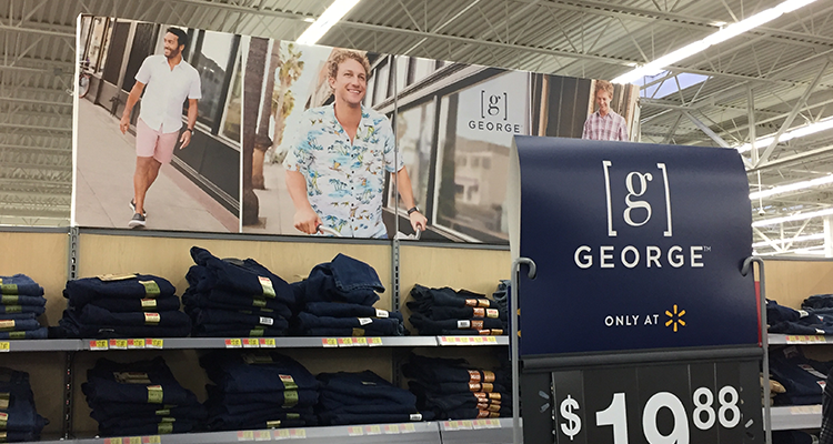 George by Walmart display