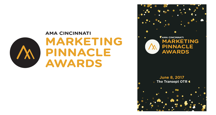AMA Cincinnati Marketing Pinnacle Awards visual identity