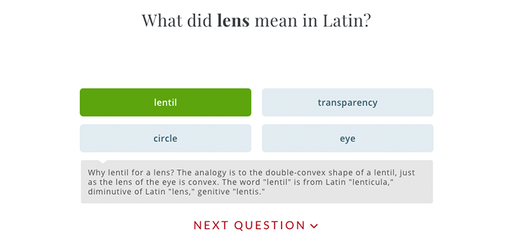 Another example from Merriam-Webster's site