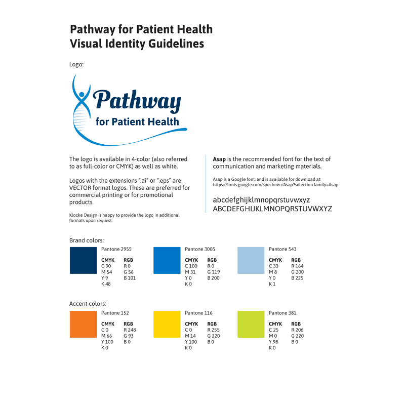 Pathway for Patient Health Visual Identity Guidelines