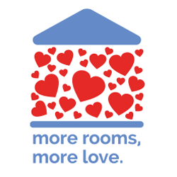 Ronald McDonald House Cincinnati More Rooms, More Love campaign logo