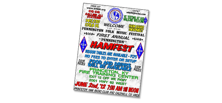 Example of a flyer created by an amateur.