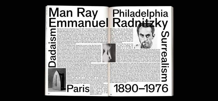 Example of a layout with very dense text